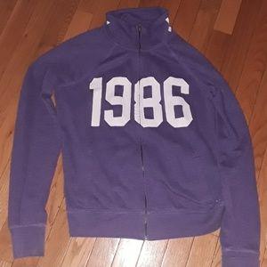 Purple zip up Victoria secret sweatshirt